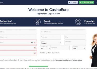 CasinoEuro-registration