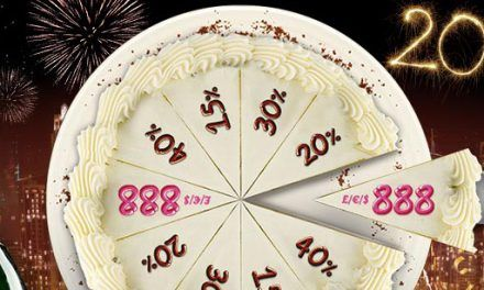 Taart bij 888 Casino met 888 euro bonus!