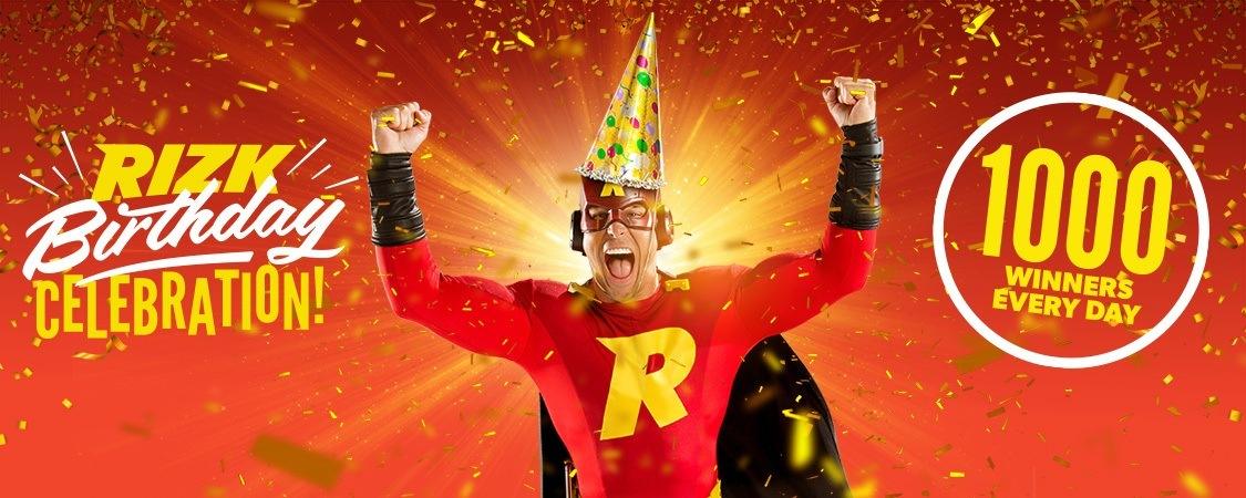 Rizk is jarig en trakteert 1.000 winnaars per dag