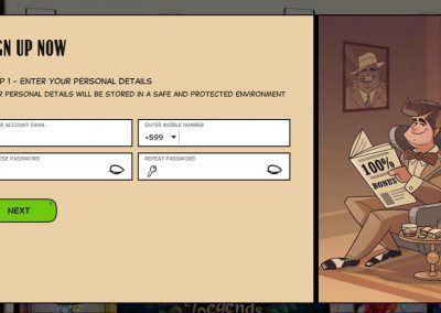 Joreels Casino - Registration page