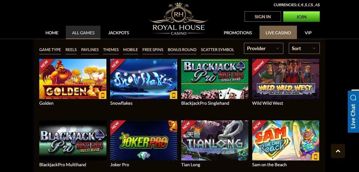 Royal House Casino casino lobby