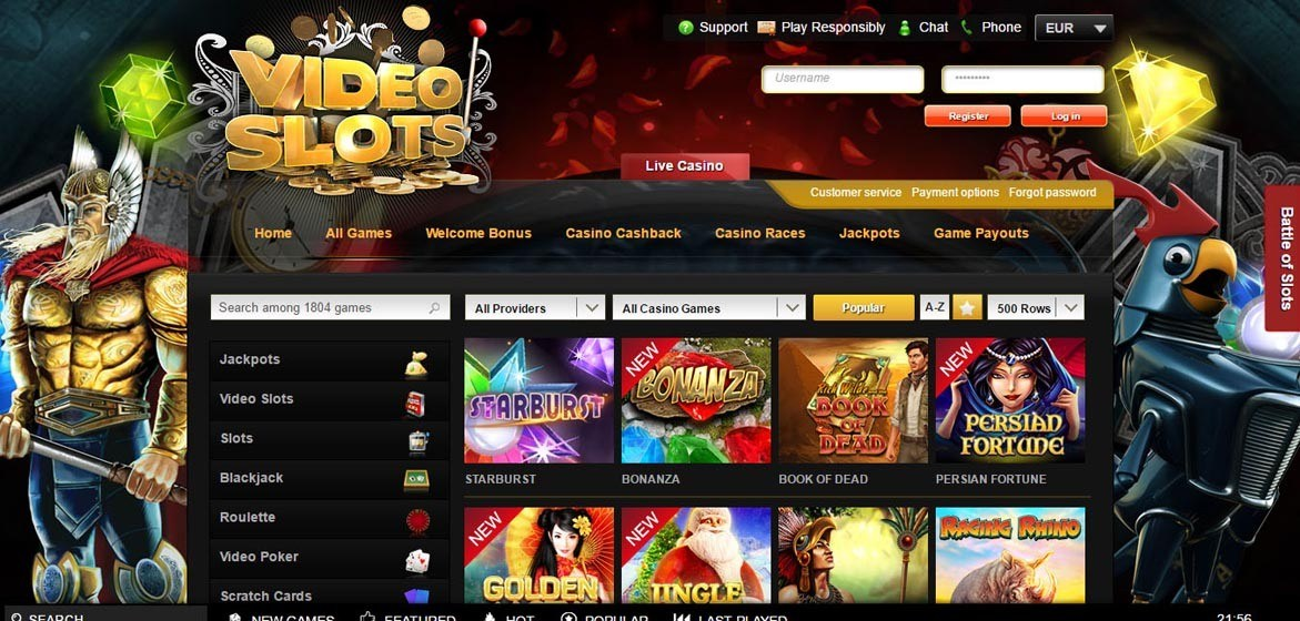 bonus online casino videoslots