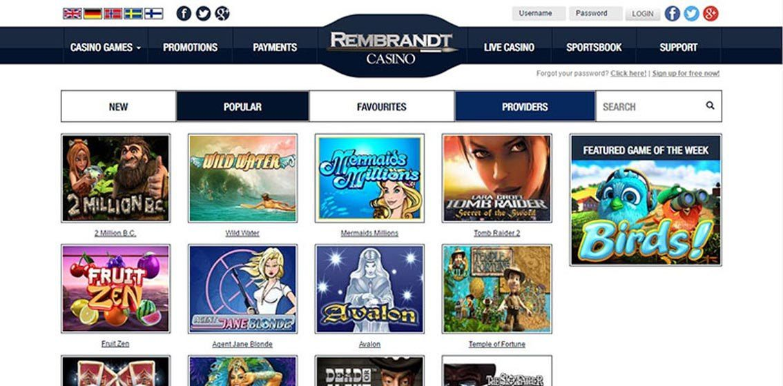 rembrabndt Casino no deposit