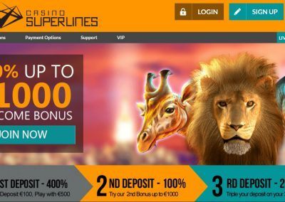 Casino Superlines - landing page