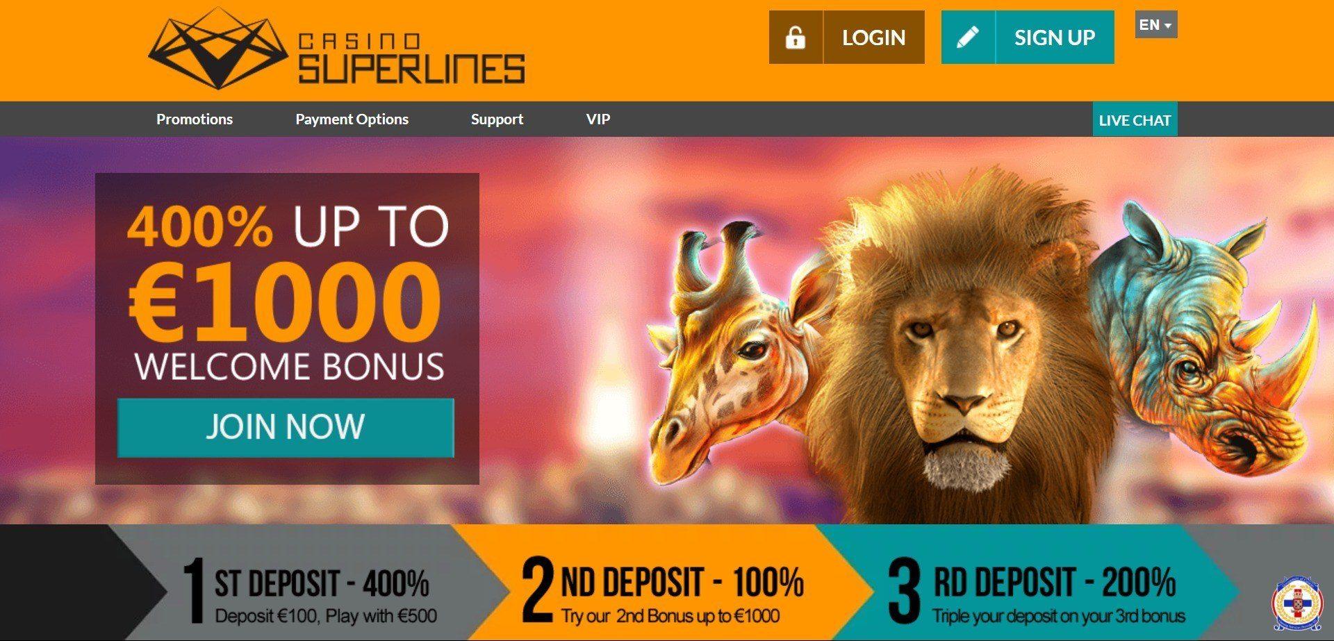 superlines casino login