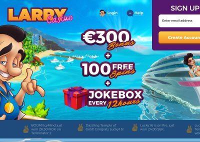 Larry Casino landing pagina