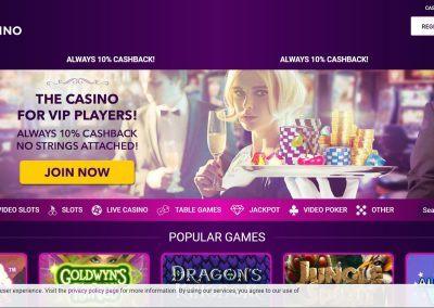 No Bonus Casino - Landing pagina