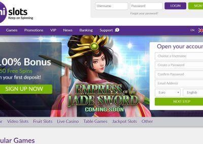 Omni Slots - Landing pagina