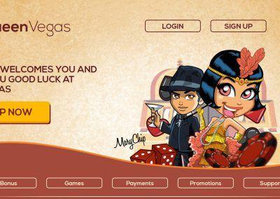 Queen Vegas Casino - Landing pagina