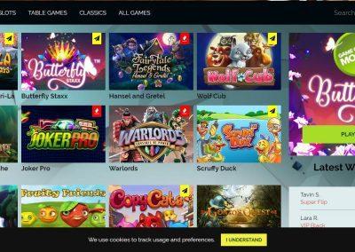 Wixstars - Casino lobby