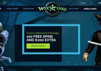 Wixstars - Landing pagina