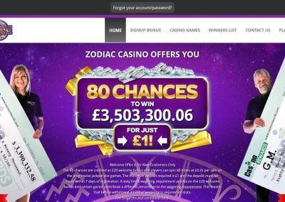 Zodiac casino landing pagina