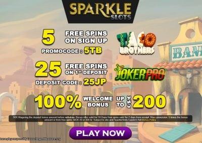 SparkleSlots Bonus