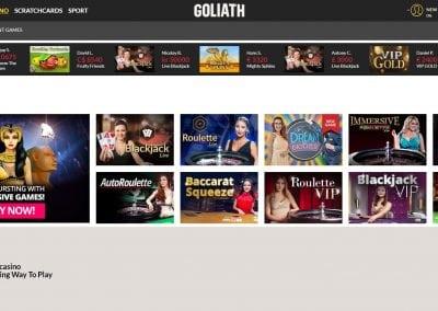 goliath live casino