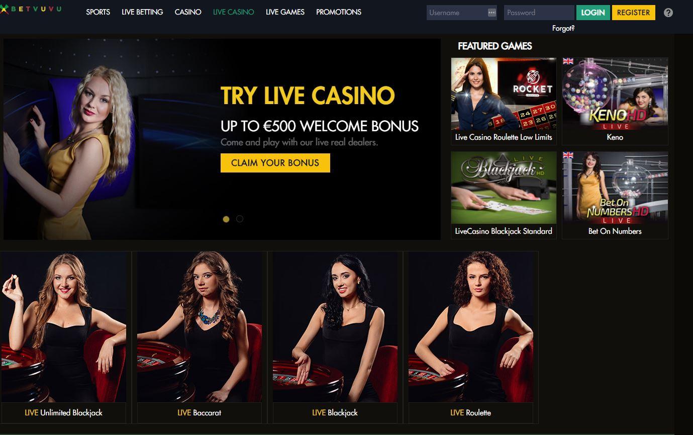 Betvuvu Casino Lobby