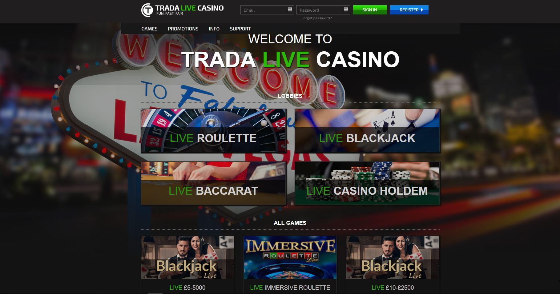 TradaCasino Trada Casino Lobby