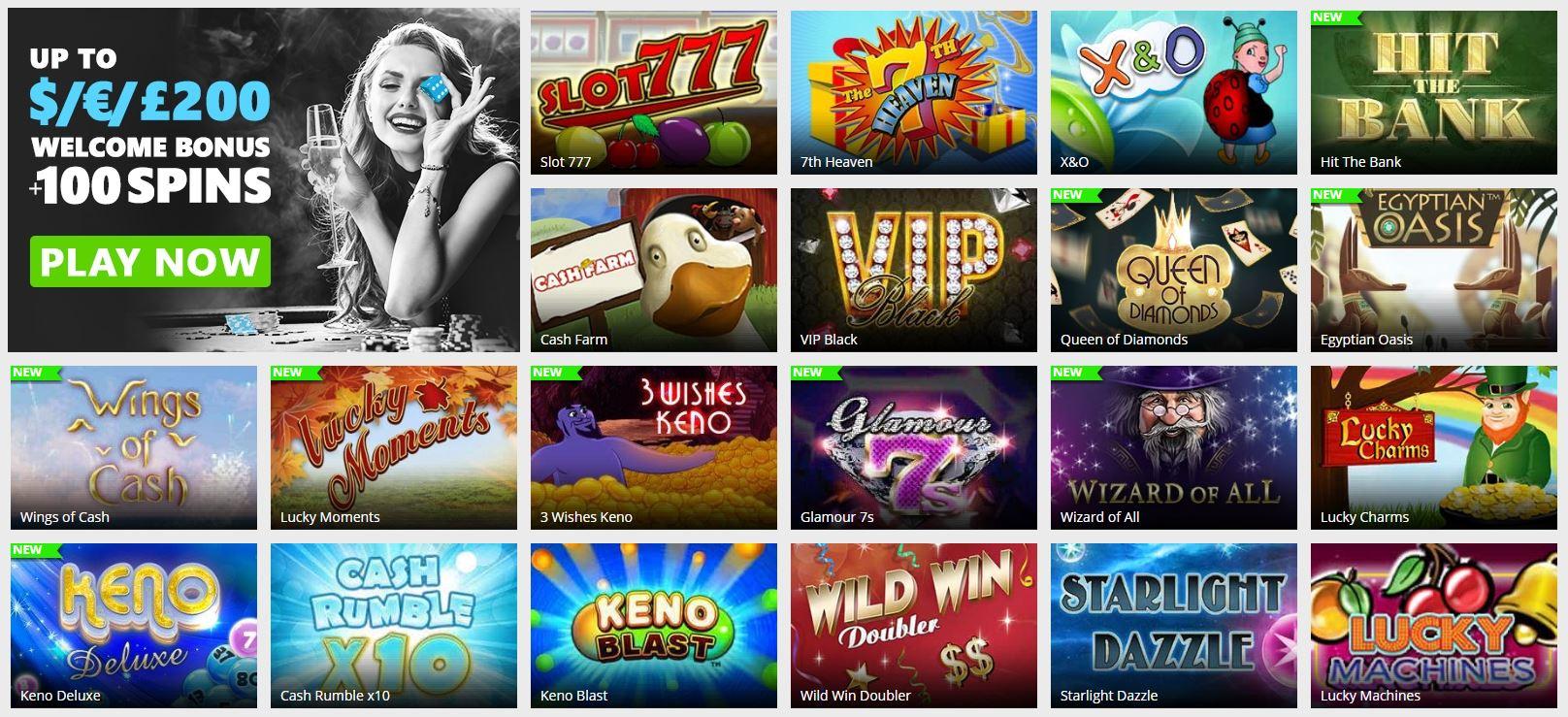 Kraskaarten Playclub Casino