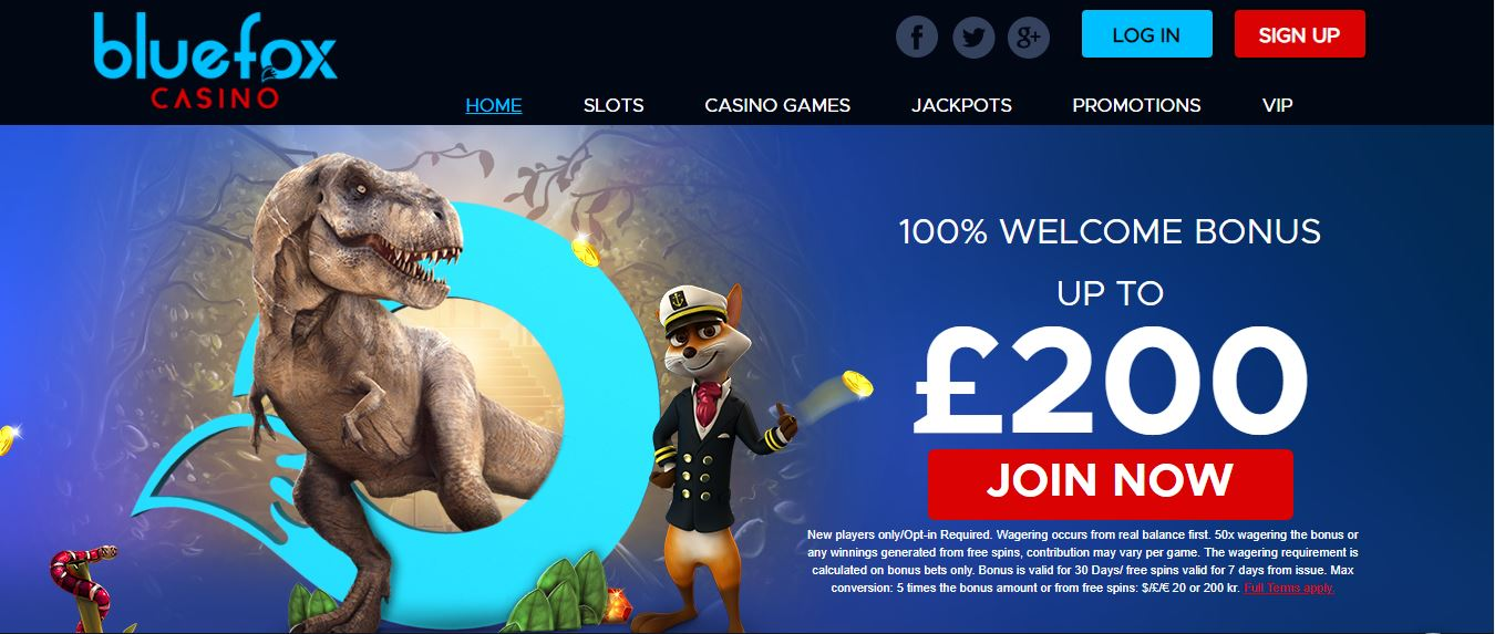 Bluefox casino welcome bonus