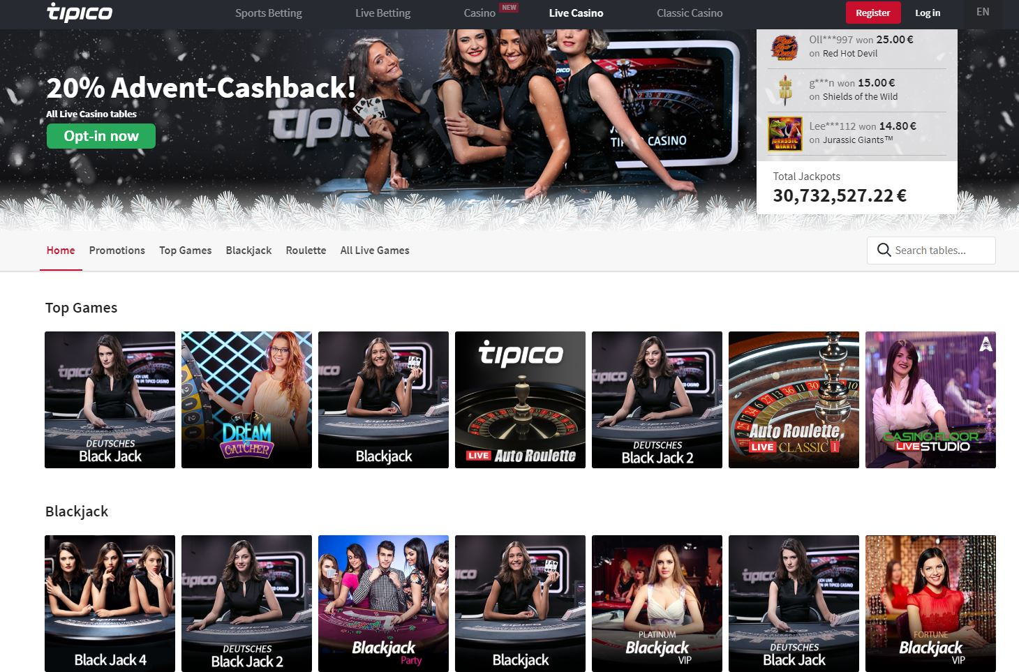 Tipico live casino