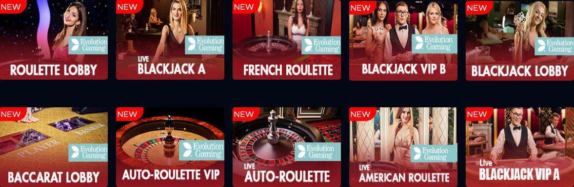 Bluefox Casino live roulette