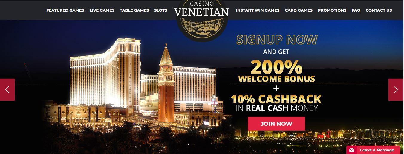 Casino Venatian bonus