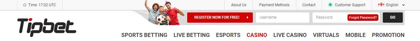 Tipbet Casino Top Bonus