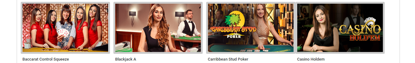 Tipbet Casino enorme live dealer lobby