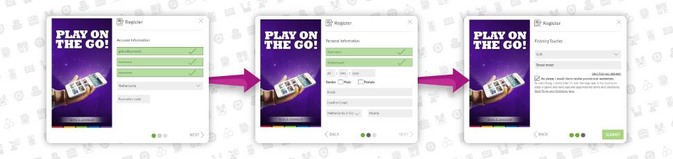 Online casino registreren