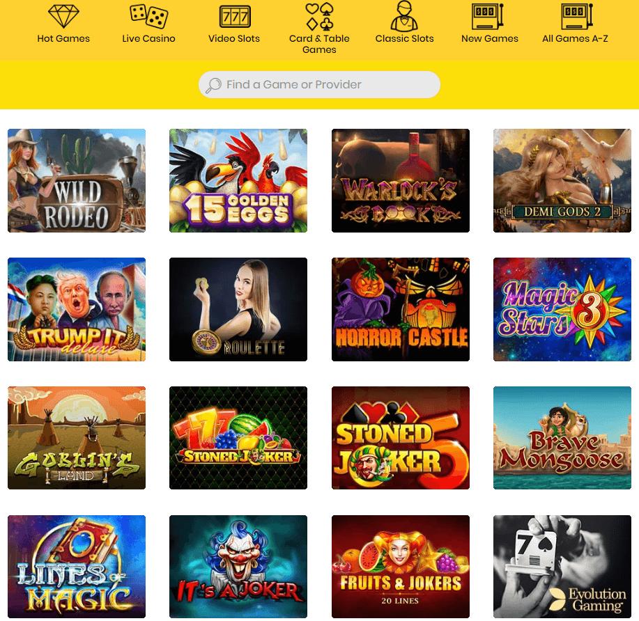 Casino Dingo Games