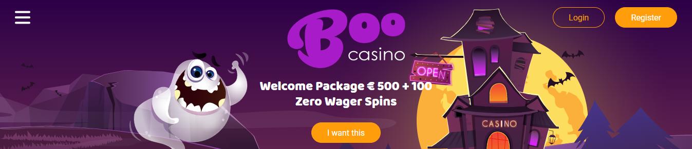BooCasino Hoge Bonus