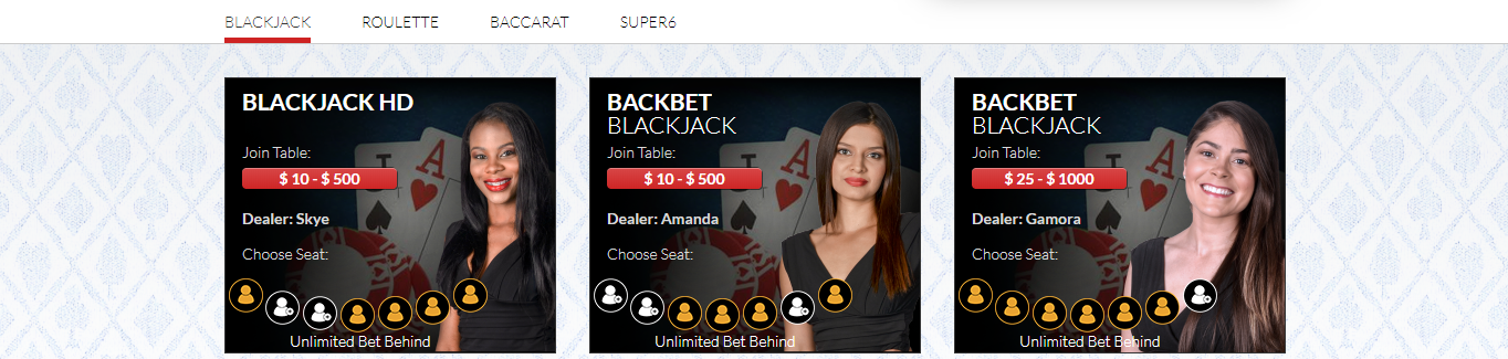 top live dealer casino Intertops Casino