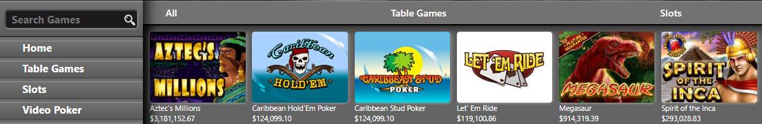 Progressieve jackpots bij Intertops Casino