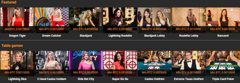 Cloudbet mobiel live casino