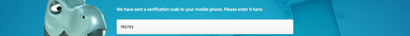 LuckyDino SMS-code