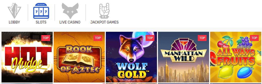 Crazy Fox Casino games