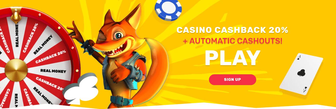 Crazy Fox Casino welcome