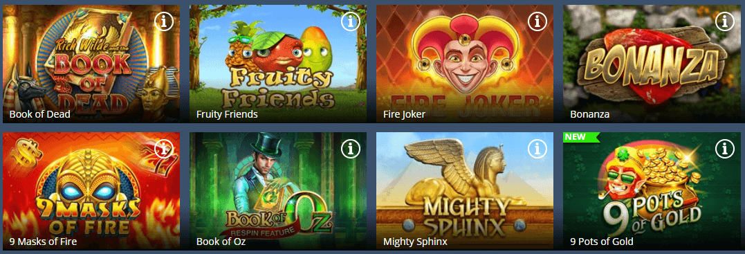 LuckLand casino games