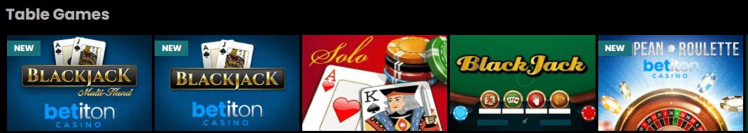 betiton casino live games