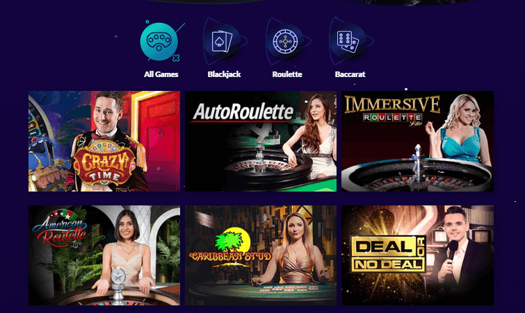 Playluck casino live games