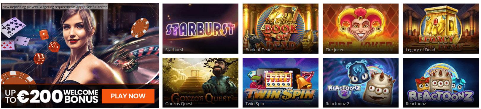 mrmega casino games
