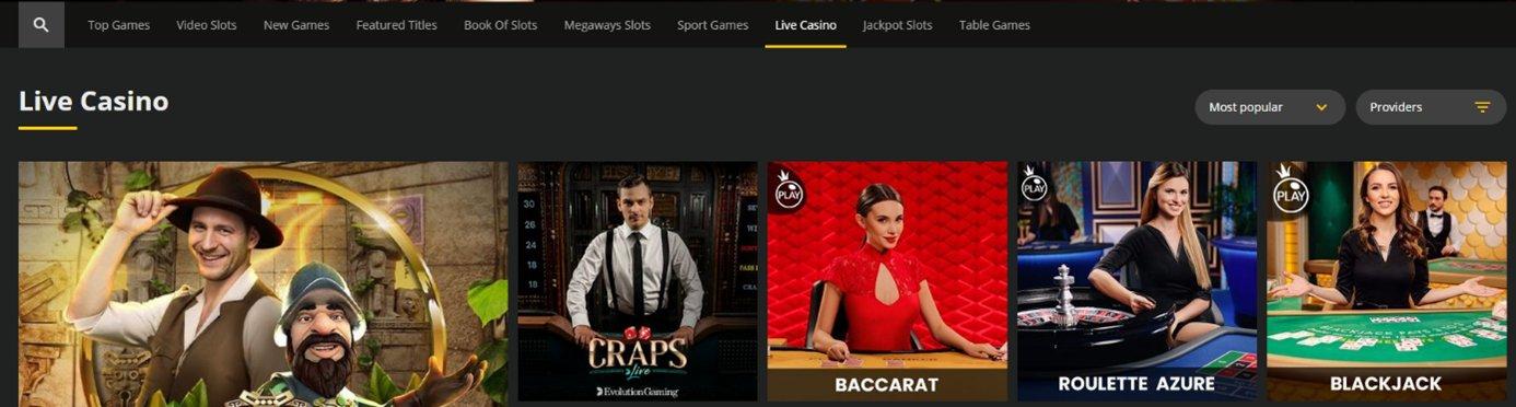 18bet Casino Live Casino