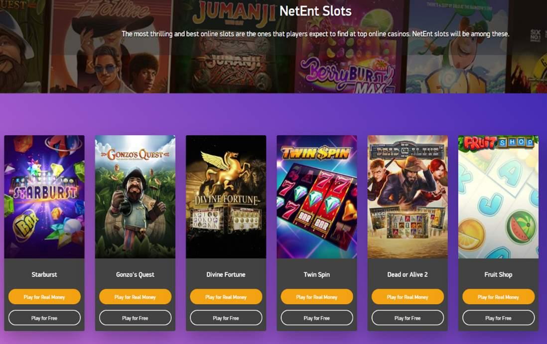 NetEnt Slots Screenshot
